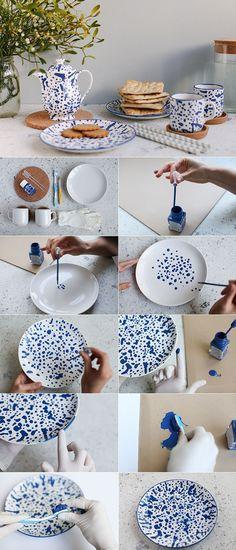 Como decorar platos fácil  y rápido                                                                                                                                                                                 Más