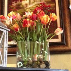 Beautiful tulip arrangement for spring, $329