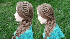 Trenzas laterales fáciles | Easy side braids - YouTube