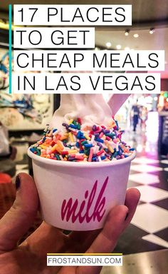 17 droolworthy places for cheap eats in Las Vegas that won't break your budget. Get read for the most droolworthy places to eat in Las Vegas that won't break your budget. Las Vegas Restaurants, Las Vegas Eats, Las Vegas Food, Milk Bar Las Vegas, Las Vegas For Kids, Best Food In Vegas, Vegas Fun, Nevada, Las Vegas Vacation