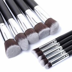 Cheap lip brush, Buy Quality brush tool directly from China eyeshadow blending Suppliers: Hot Pro Makeup Blush Eyeshadow Blending Set Concealer Cosmetic Make Up Brushes Tool Eyeliner Lip Brushes It Cosmetics Brushes, Eyeshadow Brushes, Eyeshadow Makeup, Makeup Cosmetics, Cosmetic Brushes, Mac Makeup, Contour Makeup, Lip Brushes, Clean Makeup