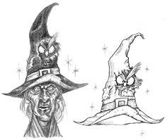witch ,whimsical characters of Pilar Agrelo Illustration Art, Illustrations, Bird Drawings, Vampires, Cute Art, Wall Art Decor, Skulls, Monsters, Whimsical