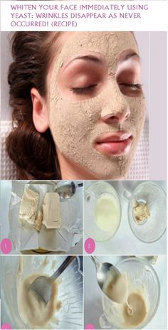 This mask whitens the skin almost immediatelly, and also nourishes it. RECIPE: Ingredients: 20 g of yeast 2 teaspoons of lemon juice. Application: Mix the yeast with the lemon juice (You can also use...