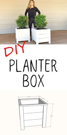 This is our easiest to build DIY planter box. It is made primarily with cedar fence pickets, so the cost is between $10 and $20 per planter. You'll just need a few basic tools to construct. Free plans by Ana-White.com #anawhite #diy #planterbox #outdoorbuilds #woodworking #gardening
