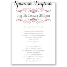 Wording For Wedding Invitation In Spanish