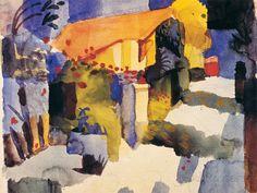 Haus im Garten Premium Giclee Print by Auguste Macke - AllPosters.co.uk