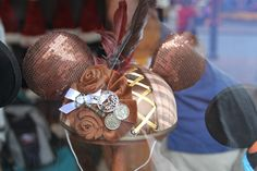 STEAMPUNK DISNEY EARS!! OMG I'M GONNA DIE!! i must find and buy these when we go to Disneyland..