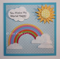 Handmade Card made by Cute Crafty Cuts using MFT die cutters & stamp set