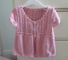 Ravelry: Project Gallery for Design D - Girls' Lace-Yoke Cardigan pattern by Sirdar Spinning Ltd.