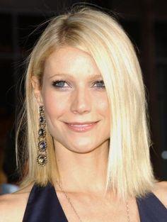 Gwyneth Paltrow long blunt bob hairstyle
