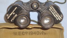 WW2 British Military No.2 MK 3, 6X 30 Magnification Prismatic Binoculars With 1940 Case By M.E. Co . Sn 7457. | Militaria | WARSTUFF