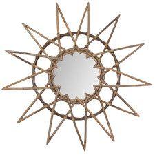 Star Mirror Rattan