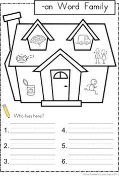Worksheets An Word Family Worksheets 1000 images about word families on pinterest my book of short vowel