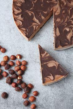 Raw Vegan Chocolate Hazelnut Mousse Cake.