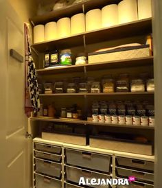 [VIDEO]: Most Organized Home in America (Part by Professional Organizer Alejandra Costello Pantry Organisation, Kitchen Organization, Organization Ideas, Organized Kitchen, Keeping A Journal, Office Essentials, Maximize Space, Getting Organized, Declutter