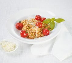 Tomaten-Risotto Tomate Mozzarella, What To Cook, Quinoa, Vegetarian Recipes, Side Dishes, Cereal, Oatmeal, Veggies, Low Carb