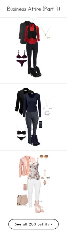 """Business Attire (Part 1)"" by gone-girl ❤ liked on Polyvore featuring LE3NO, J.TOMSON, Calvin Klein, Calvin Klein Underwear, Magdalena Frackowiak, Doublju, Casadei, ChloBo, Roberto Coin and Frederic Sage"