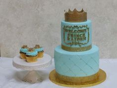 Welcome Little Prince Cake and Matching Cupcakes