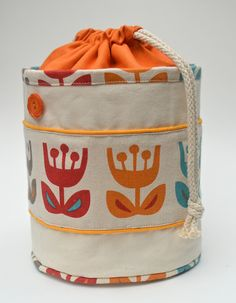 ikat bag: Lunch Buckets.  I feel the urge to make buckets.