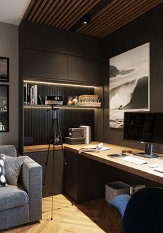 For Two Home Office Design Ideas. Hence, the requirement for house offices.Whether you are planning on adding a home office or renovating an old space into one, here are some brilliant home office design ideas to aid you get going. Home Office Setup, Home Office Space, Study Office, Small Office, Office Ideas, Loft Office, Office Rug, Desk Setup, Office Storage
