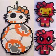 Hello Kitty perler beads by d0ntw0rrybehippie_
