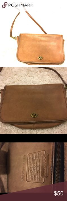 Leather Coach Purse Cognac Coach leather purse. Very clean, smoke free. Price is firm. Coach Bags Crossbody Bags