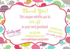 Thirty-One Gifts Discount Coupon on Etsy idea to make my own