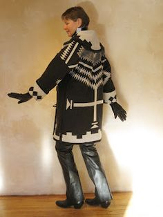 Los Ojos Wrap Semi-Long- back   Pendleton woolen. Made by hand in Taos, NM email aventura@newmex.com