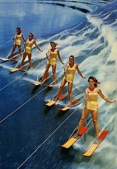 Florida Cypress Gardens - 1960's. i spent many happy hours watching these skiers do their thing.