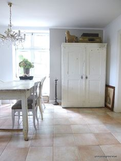"""exciting?..oh yes..look at the possiblities..even with that """"ugly"""" floor..you can """"regrout""""..and also..add some very """"primitive"""" carpet..just remember..its a country dining room..don't make it """"ARTSIE CRAFTSIE"""""""