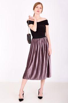 Fialová stredne dlhá plisovaná sukňa - Rouzit.sk Chic, Vintage, Design, Style, Fashion, Shabby Chic, Swag, Moda, Elegant
