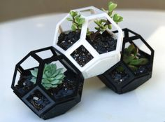 Shared by Sam W. On YouMagine: Plantygon is a modular geometric stacking planter. Designed to accommodate my growing collection of succulents, it is based on the truncated octohedron which can tess…