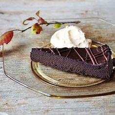 Pumpkin-Chocolate Torte with Pumpkin Whipped Cream Slide