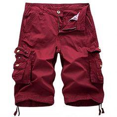 Cargo Shorts Men/'s Gray Camo 8 pockets Casual 100/% Cotton Ret $44 New