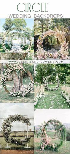 greenery wedding wreath backdrop ideas  #weddings #wedding #weddingideas #deerpearlflowers #weddinginspiration #weddingbackdrops