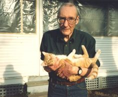 """William S. Burroughs was a devout cat lover who called them his """"psychic companions,"""" and described them as """"natural enemies of the state."""" He wrote a book,The Cat Inside, where he wrote lovingly of his companions such as Calico Jane, Fletch, Rooski, Wimpy, and Ed."""