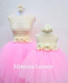 Mother Daughter Matching Dresses Adult tutu dress от MimozaLuxury