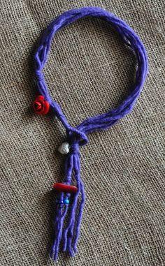 Collana lana viola