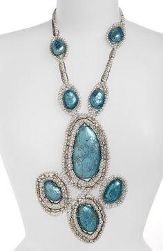 Alexis Bittar 'Lucite®' Pearl Statement Bib Necklace