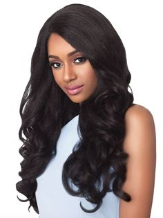 Outre Lace Front Wig - Stunna - Pre-Styled - Comes with L Parting Lace - High Tex, heat resistant fiber safe up to 400 degrees F - Style shown:åÊ2