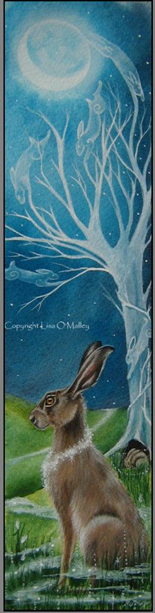 Hare Print  Ancestral Magic by eveningstardust on Etsy, $12.00