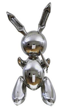 Jeff Koons amazing stainless steel rabbit sculpture looks just like a mylar balloon.