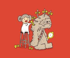Poor Chewie...  This makes me think of a good friend Nd how he was with Gabbie And now with his own little girl.