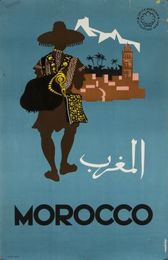 Morocco Travel Poster. - Maroc Désert Expérience tours http://www.marocdesertexperience.com