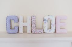 C - Nancy Lavender H - Pink Love Hearts L - Pink & Purple Floral  O - Butterfly Gardens Lavender E - Baby Pink Gingham