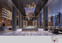 Quanzhou ten thousand Ziyun station sales offices soft loading design appreciation _ Shenzhen . Luxury Interior, Interior Architecture, Public Hotel, Interior Columns, Hotel Lounge, Column Design, Lobby Design, Hotel Interiors, Hospitality Design