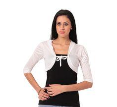 22905eb5b2 Buy Teemoods Stylish White Short Shrug online for girls in India at  reasonable price
