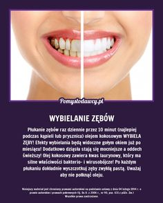 NIEZWYKŁY SPOSÓB NA WYBIELENIE ZĘBÓW, KTÓREGO NIE ZNASZ A DZIAŁA! Face Care, Skin Care, Body Training, Face And Body, Good To Know, Health And Beauty, Healthy Life, Health Tips, Fun Facts