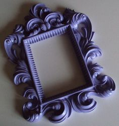 Lilac Lavender Purple Grape or ANY COLOR Picture Frames Wedding Ornate Baroque Shabby Paris Cottage Chic Romantic Wall Gallery 5x7. $26.00, via Etsy.