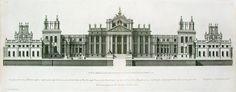 Elevation for Blenheim Palace, England